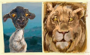 lamb and lion study color